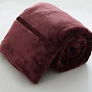 Superweich Solide Polyester / Baumwolle Decken