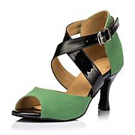 Žene Latinski plesovi Umjetna koža Tenisice Profesionalac Stiletto potpetica Zelen Moguće personalizirati