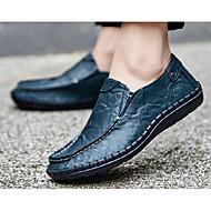 Homme Chaussures Cuir Printemps Automne Confort Mocassins et Chaussons+D6148 Pour Décontracté Noir Jaune Bleu