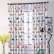 Propp Topp Dobbelt Plissert Blyant Plissert Window Treatment Moderne , Nyhet Stue Polyesterblanding Materiale gardiner gardiner Hjem Dekor
