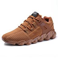 Masculino sapatos Materiais Customizados Inverno Outono Conforto Tênis Para Casual Preto Cinzento Marron