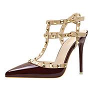 Mujer Zapatos Satén Verano Confort Sandalias Tacón Cuña Punta abierta Pluma / Hebilla Negro / Amarillo / Fiesta y Noche OWNcF