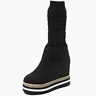 cheap Women's Boots-Women's Shoes Fur Fall Winter Snow Boots Fashion Boots Boots Mid-Calf Boots For Casual Party & Evening Coffee Black