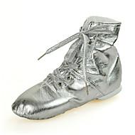 billige Jazz-sko-Dame Jazz-sko Kunstlær Joggesko / Hel såle Flat hæl Dansesko Gull / Sølv
