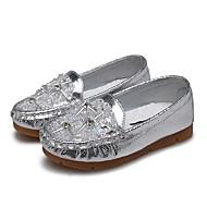 baratos Sapatos de Menina-Para Meninas Sapatos Courino Primavera / Outono Conforto Rasos Pedrarias / Cristais / Gliter com Brilho para Dourado / Prata / Rosa claro
