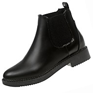 billige -Dame Sko PU Vinter Trendy støvler Støvler Lav hæl Rund Tå Støvletter Til Avslappet Svart Sølv