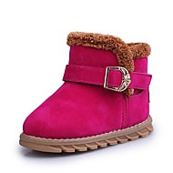 baratos Sapatos de Menino-Para Meninos Sapatos Pele Nobuck Outono / Inverno Conforto / Botas de Neve Botas para Preto / Pêssego / Marron