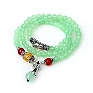 Žene Zamotajte Narukvice Strand Narukvice Multi-stone Sintetički Emerald Azijski Klasik Ahat Legura Circle Shape Jewelry Rođendan Škola