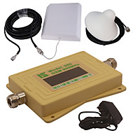 mini intelligent LCD-skjerm gsm980 900mhz mobiltelefon signal booster repeater med utendørs panel antenne / innendørs tak antenne gul