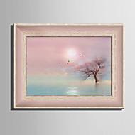 cheap Framed Arts-Framed Canvas Framed Set Landscape Floral/Botanical Botanical Wall Art, PVC Material With Frame Home Decoration Frame Art Living Room
