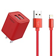cheap -Portable Charger USB Charger US Plug Fast Charge / Charger Kit 2 USB Ports 2.1 A