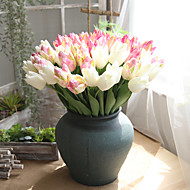 billige Kunstig Blomst-Kunstige blomster 5 Afdeling Europæisk Tulipaner Bordblomst