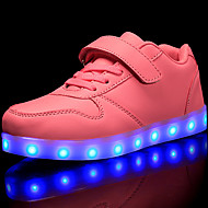 baratos Sapatos de Menina-Para Meninas Sapatos Pele PVC / Materiais Customizados Outono / Inverno Conforto / Tênis com LED Tênis Cadarço / Velcro / LED para