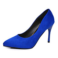 cheap Women's Heels-Women's Shoes PU Spring Summer Sandals Kitten Heel Pointed Toe For Dress Going out Casual/Daily Black Fuchsia Red Blue