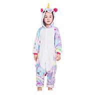 Kigurumi Pijamale Cal Zburător Unicorn Onesie Pijamale Costume Flanel anyaga Roz Alb Albastru Mov Galben Cosplay Pentru Copil Sleepwear