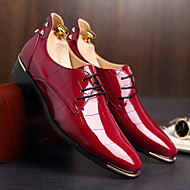 Χαμηλού Κόστους Ανδρικά παπούτσια-Ανδρικά Παπούτσια TPU Χειμώνας Φθινόπωρο Τυπική παπούτσια Γαμήλια παπούτσια για Γάμου Γραφείο & Καριέρα Φόρεμα Μαύρο Βαθυγάλαζο Κόκκινο