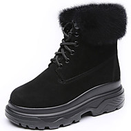 cheap Women's Boots-Women's Shoes Fur Winter Fall Snow Boots Fashion Boots Combat Boots Boots Creepers Round Toe Mid-Calf Boots for Casual Party & Evening