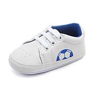 お買い得  ベビー用靴-赤ちゃん 靴 レザーレット 春 秋 コンフォートシューズ 赤ちゃん用靴 幼児用靴 フラット ゴア のために カジュアル ブラック レッド ブルー