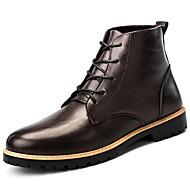 Χαμηλού Κόστους Ανδρικές μπότες-Ανδρικά Fashion Boots Νάπα Leather / Δερμάτινο Φθινόπωρο / Χειμώνας Ανατομικό Μπότες Μπότες στη Μέση της Γάμπας Μαύρο / Καφέ