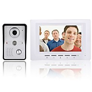 cheap -7 Inch Video Door Phone Doorbell Intercom Kit Night Vision with IR-CUT CMOS 700TV Lines