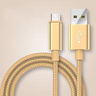 voordelige -USB 2.0 Type C Gevlochten Kabel Voor Samsung Huawei Sony Nokia HTC Motorola LG Lenovo Xiaomi 100 cm Nylon