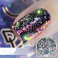 1pc Glitrende Laser Holografisk Glitter Powder Nail Art Design