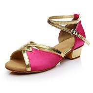 baratos Sapatilhas de Dança-Mulheres Sapatos de Dança Latina Materiais Customizados Salto Salto Baixo Personalizável Sapatos de Dança Fúcsia