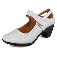 """billige Moderne sko-Dame Moderne Kunstlær TPU Høye hæler Trening Kubansk hæl Hvit 1 """"- 1 3/4"""" 2 """"- 2 3/4"""" Kan spesialtilpasses"""