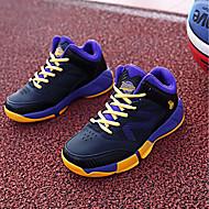 baratos Sapatos de Menino-Para Meninos Sapatos Tule / Couro Ecológico Outono Conforto Tênis Basquete para Roxo / Azul / Preto / Vermelho