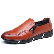 tanie Small Size Shoes-Męskie Buty Derma Wiosna Lato Comfort Mokasyny i pantofle na Casual Black Brown