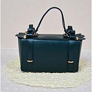 baratos Bolsas Tote-Mulheres Bolsas Courino / PU Tote Botões Roxo / Amêndoa / Verde Escuro