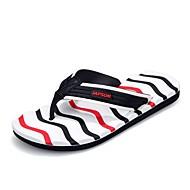 halpa -Miehet kengät EVA Kevät Kesä Valopohjat Tossut & varvastossut Null Puoliksi laskostettu varten Kausaliteetti Musta Musta/punainen