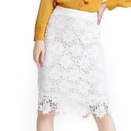 Žene Veći konfekcijski brojevi Bodycon Olovka Vintage Rad Suknje - Cvjetni print, Čipka