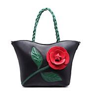baratos Bolsas Tote-Mulheres Bolsas PU Tote Flor Rosa / Verde Claro / Fúcsia
