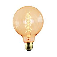 billige Glødelampe-1pc 40 W E26 / E27 G95 Glødende Vintage Edison lyspære 220-240 V