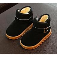 baratos Sapatos de Menino-Para Meninos Sapatos Pele Nobuck Inverno Conforto / Botas de Neve Botas Caminhada Presilha para Preto / Fúcsia / Marron / Botas Curtas / Ankle