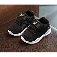 baratos Sapatos de Menina-Para Meninas Sapatos Tecido Primavera / Outono Conforto Tênis para Branco / Preto / Rosa claro