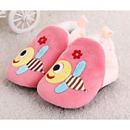 赤ちゃん 靴 繊維 冬 秋 赤ちゃん用靴 コンフォートシューズ フラット ウォーキング アニマルプリント のために カジュアル オレンジ コーヒー ブルー ピンク