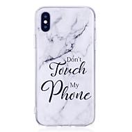 billiga Mobil cases & Skärmskydd-fodral Till Apple iPhone X / iPhone 8 Plus IMD Skal Marmor Mjukt TPU för iPhone X / iPhone 8 Plus / iPhone 8