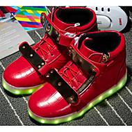 halpa -Poikien kengät Synteettinen mikrokuitu PU Talvi Syksy Comfort Lenkkitossut varten Kausaliteetti Valkoinen Musta Punainen