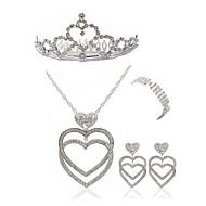 Dámské Doplňky do vlasů Svatební šperky Soupravy imitace drahokamu Evropský Módní Svatební Párty Umělé diamanty Slitina Srdce Tělové