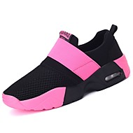 cheap Women's Athletic Shoes-Women's Shoes Rubber Spring Fall Comfort Athletic Shoes Walking Shoes Flat Heel Round Toe Booties/Ankle Boots Ribbon Tie for Outdoor