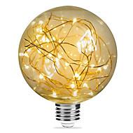 Χαμηλού Κόστους LED Λάμπες με Νήμα Πυράκτωσης-1pc 3W 200lm E26 / E27 LED Λάμπες Πυράκτωσης G95 33 LED χάντρες SMD Έναστρος Διακοσμητικό Θερμό Λευκό 85-265V