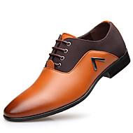 baratos Sapatos Masculinos-Homens Oxford Primavera / Outono Conforto Oxfords Preto / Castanho Claro / Castanho Escuro / Festas & Noite