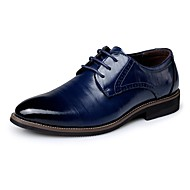 Men's Comfort Shoes Leather Spring / Fall Business Oxfords Navy Blue / Light Brown / Dark Brown / Party & Evening / Party & Evening / EU40