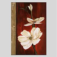 halpa -Maalattu Kukkakuvio/Kasvitiede Moderni Kanvas Hang-Painted öljymaalaus Kodinsisustus 1 paneeli