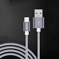 billige -USB 2.0 Type-C USB-kabeladapter Opladerkabel Opladerledning Data & Synkronisering Kabel Flettet Kabel Til Samsung Huawei Xiaomi 100 cm