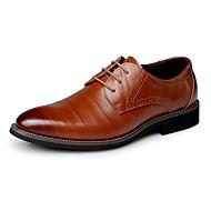 baratos Sapatos Masculinos-Homens Couro Primavera / Outono Negócio / Conforto Oxfords Azul Marinho / Castanho Claro / Castanho Escuro / Festas & Noite