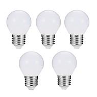 billige Globepærer med LED-EXUP® 5pcs 5W 560lm E27 LED-globepærer G45 10 LED perler SMD 5730 Mulighet for demping Dekorativ LED Lys Varm hvit Kjølig hvit 180-240V