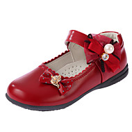 cheap Flower Girl Shoes-Girls' Shoes PU Winter Fall Flower Girl Shoes Comfort Flats for Casual Black Red Pink